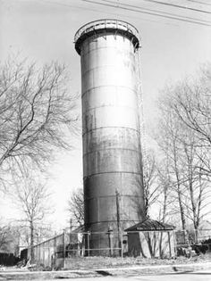 Old Water Tower - Whitby, Ontario - 1948.