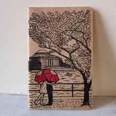 Or do custom print with plum umbrella. Have guest sign matting Jefferson Memorial, Cherry Blossom Season, Red Umbrella, Sketch Pad, Groom Attire, Wedding Save The Dates, Event Planning, Wedding Details, Love