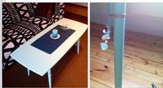 Painted table with bling