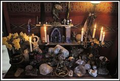 Witchy power altar