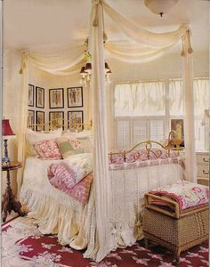 Bedroom picture which appeared on cover of Country Victorian magazine in winter 2008.