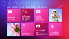 SNCF Digital Instore Strategy by yul , via Behance