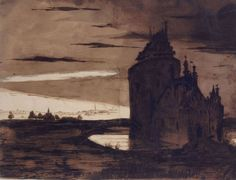 Victor Hugo, the unknown painter – The Eclectic Light Company Artist Van Gogh, Honore Daumier, Gustave Courbet, My Tumblr, Fantastic Art, Abstract Expressionism, Contemporary Artists, Dark Art, Les Oeuvres