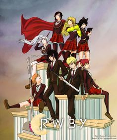 RWBY-Team RWBY and JNPR Poster by Essynthesis on deviantART