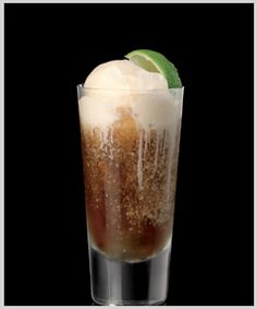 Bacardi Rum 'n' Coke Floats. Oh my Rum and Coke and ice cream, some of my favorite things all in one. Party Drinks, Cocktail Drinks, Fun Drinks, Cocktail Recipes, Alcoholic Drinks, Beverages, Drink Recipes, Alcohol Recipes, Liquor Drinks