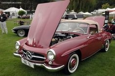 1959 Mercedes-Benz 190 SL. Carmel-By-The-Sea Concours on the Avenue (picture credit: Conceptcarz.com). If you like Mercedes Benz 190 SL's please visit us on Facebook at https://www.facebook.com/190SL