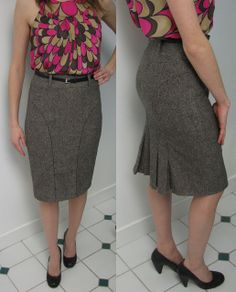 vogue 8426 pencil skirt kick pleats