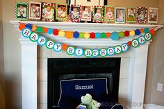Polka dot banners and polka dot matting for pictures