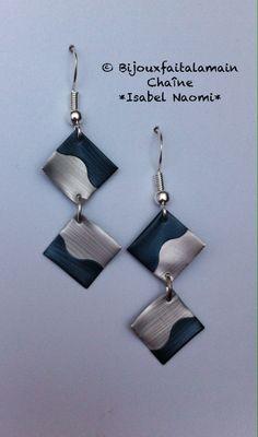 bijou Nespresso: Boucles d'oreilles ruban de la boutique Bijouxfaitalamain13 sur Etsy