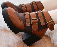 Encontrar Más Botas Información acerca de Nuevo 2014 marca otoño invierno mujeres botines de cuero tacones altos zapatos de plataforma hebilla envío gratis, alta calidad zapatos para los pies calientes, China botas zapatos de las mujeres Proveedores, barato botas zapatos estación de Vace store en Aliexpress.com