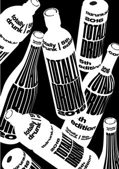zima - The type both creates a feel for the bottles, and also, due to the distortion and difficulty to read, is used to show a feeling of drunkenness. Typography Layout, Graphic Design Typography, Graphic Design Illustration, Graphic Art, Vynil, Buch Design, Type Posters, Typographic Poster, Communication Design