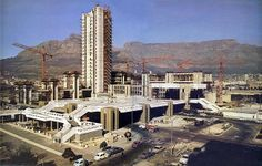Cape town Civic Centre under construction - 1975 south africa Old Pictures, Old Photos, Cape Town South Africa, Table Mountain, Dream City, Places Of Interest, African History, Under Construction, Beautiful Places