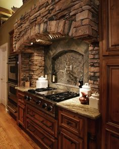 Fortunately, you can't fail with a stone backsplash. A stone kitchen backsplash is certain to turn into a focus in any home. Regardless of what your house's style is, you may rest assured that there's a stone kitchen backsplash out… Continue Reading → Rustic Kitchen Cabinets, Rustic Kitchen Design, Kitchen Backsplash, Kitchen Interior, Kitchen Island, Backsplash Ideas, Stone Backsplash, Backsplash Design, Kitchen Countertops