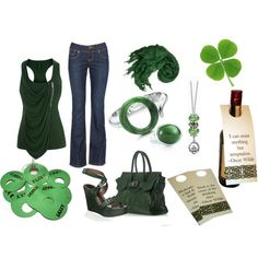 St. Patrick's Day Party, created by hannah-diamond on Polyvore. i like!