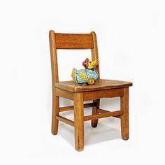 Vintage Wood Preschool Chair Toddler Seat Toddler Chair