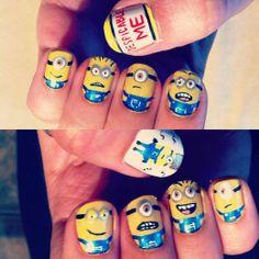 @Sara Eriksson Clow  Despicable Me Minions Nail Art