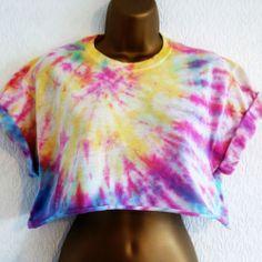 New Tie Dye 90s Crop Top T-Shirt S Hipster Grunge Ibiza Urban 8 10 12 Hipster Grunge, Ibiza, Tie Dye Crop Top, Crop Tops, Cozy, Urban, Clothes, Women, Fashion