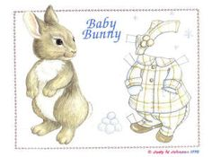 Baby Bunny with many Rabbit Clothes
