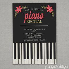 26 Best Piano Recital Invitations Images Piano Recital Piano