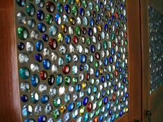 99 Cent Store Glass Pebble Stain Glass Window DIY