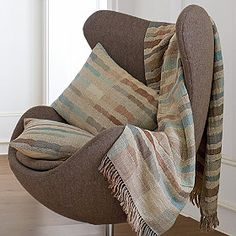 Throw and sham set adds a comfortable look to a living room or bedroom