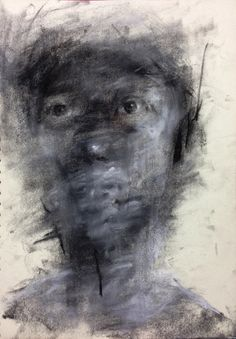 [90] untitled charcoal  on canvas 162 x 96 cm 2013 by KwangHo Shin, via Behance