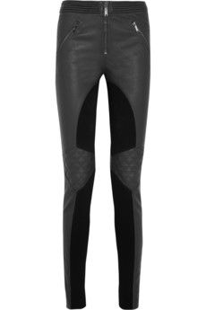 Matthew Williamson Paneled skinny leather pants | THE OUTNET