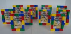 LEGO theme Boy birthday party favor 3x5 freestanding by miamimere, $44.00