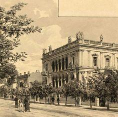 1890 - Panepistimiou street in Athens (sketch)