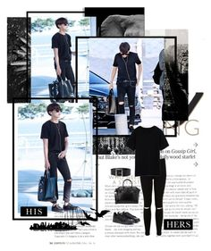 """~J-Hope :: At The Airport~"" by taeangel ❤ liked on Polyvore featuring Barclay Butera, Miss Selfridge, Dolce&Gabbana, adidas, Givenchy, Universal Lighting and Decor, kpop, bts, bangtan and Jhope"