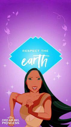 Pocahontas - Respect The Earth Deco Disney, Arte Disney, Disney Love, Disney Art, Disney Pixar, Disney Characters, Disney Stuff, Princess Pocahontas, Disney Pocahontas