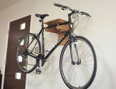 Bamboo Wooden Bike Rack Fold-Away Wall Storage Bike Storage Small Space, Bicycle Storage, Bench With Shoe Storage, Wall Storage, Storage Rack, Garage Storage, Smart Storage, Storage Organization, Storage Ideas