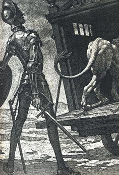 Aventura del león (1952-1957), de Teodoro Miciano.Un Quijote para todos los tiempos   Actualidad   EL PAÍS