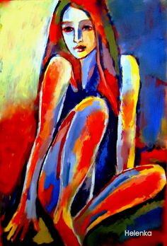 "Saatchi Online Artist: Helena Wierzbicki; Acrylic, 2012, Painting """"Serene thoughts"""""