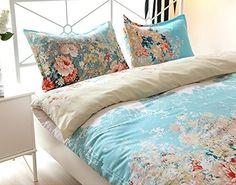 A lightweight cotton duvet cover set with a vintage-inspired floral pattern. | 23 Of The Best Bedding Sets You Can Get On Amazon