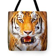 #Siberian #tiger #wildlife #tote #bag #orange #white #wallart #canvas #framedprint #prints