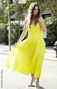 A sunny yellow sundress doesn't just lift your spirits, it steals the sidewalk. Our customers agree. We're spotting Banana Republic frocks all over the stylish summer streets. Proof that this is our most gorgeous, brilliantly versatile dress collection ever. And this is the Banana you love. Your Life. Styled. Shop now.