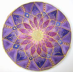 Púrpura arte de mandala del chakra don por HeavenOnEarthSilks