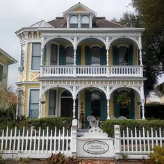 Coppersmith Inn - charming 1887 #Victorian Queen Anne style B&B featuring period antiques, feather beds, stained glass and lush gardens. In Galveston Tx. ✨ It's for sale!  Photo: @oldgalvestonhouse Rosa Morgan is a writer and photographer seeking a fresh look at Galveston's past and present. Thank you for tagging us!