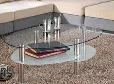 glass oval coffee table modern