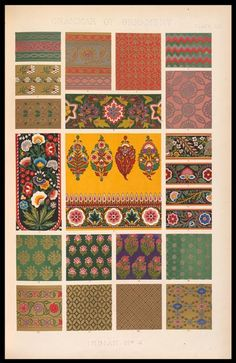 Owen Jones, Grammar of Ornament, Indian no. 4, Plate LII, 1865. National Art Library, Ref No. ND.91-0040 (Vol II)