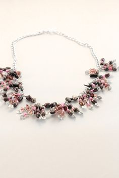 Grapes necklace by ZinaJewelry on Etsy, $59.99