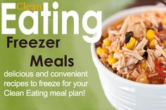 Clean eating is just easier when your freezer is stocked with clean and healthy meals so you can grab-n-go!  #cleaneating #eatclean #cleaneatingrecipes #freezermeals #freezerrecipes