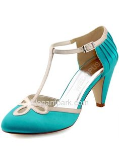 WEDOPUS HC1515 Closed Toe Cone Heels Ankle Strap Cutout Pumps Evening Prom Wedding  Bridal Shoes ( 85c01168d118
