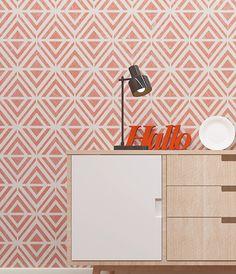 Wall Stencil - Modern Geometric Pattern Stencil - Seamless Pattern Wal – StencilsLab Wall Stencils