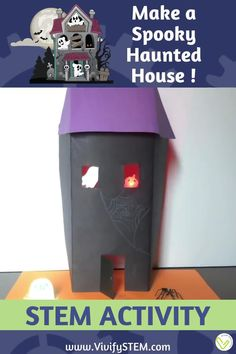 What's more spooktackular than a haunted house? One that your students make while learning the basics of circuits! All you need is some paper, tape, copper conductive tape, LEDs, and coin cell batteries. Then create your creepy castle or cottage. Students will first learn about circuits and use a template to build a Halloween-themed paper circuit. Students are then tasked to use the engineering design process to design and build a light-up Haunted House!