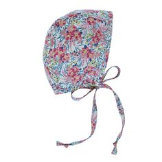 Sweetpea Bonnet by Briar Handmade – Briar Bonnets. Think pink (blooms) with our vibrant Sweetpea.Baby bonnet handmade from Liberty of London floral cotton and lined with 100% cotton, we only use the best for this sweet necessity.