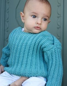 Free+Knitting+Pattern+-+Baby+Sweaters:+Griffin's+Seeded+Rib+Pullover