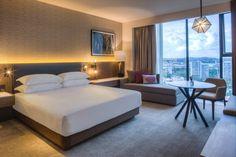 Hyatt Regency Adelaide Set to Open in 2023 Bungalows, Hotel Bedroom Design, Hotel Floor Plan, Hotel Interiors, Luxury Hotel Rooms, Natural Bedroom, Apartment Design, Dream Bedroom, House