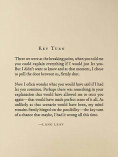 Key turn